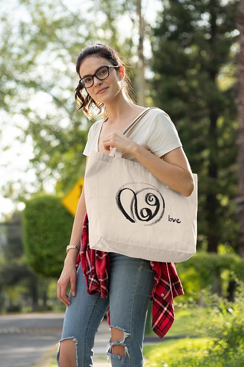 Love - Oracle Girl - Large organic cotton tote bag