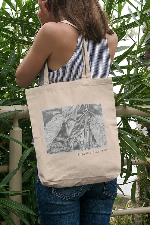 Physalis alkekengi - Organic cotton Eco Tote Bag
