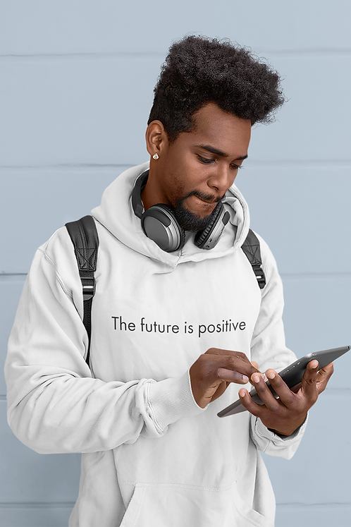 The future is positive - Oracle Girl - Unisex essential eco hoodie