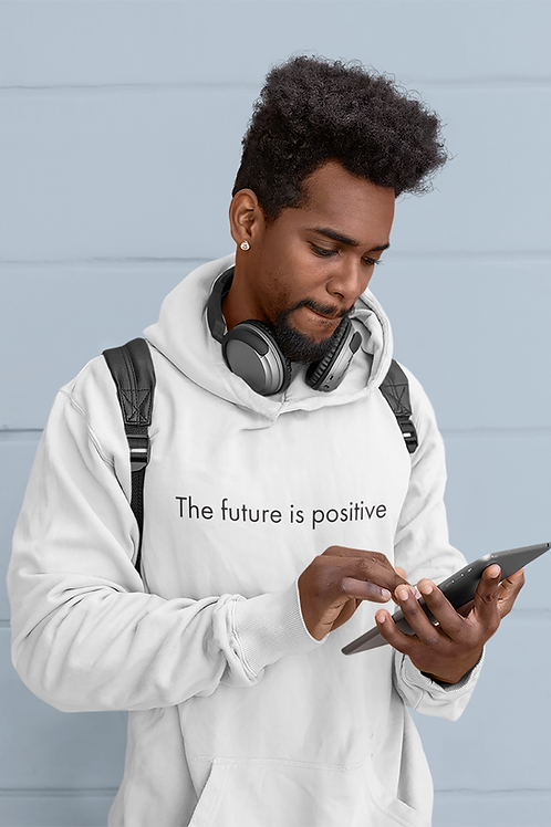 The future is positive - OG - Unisex Organic Cruiser Hoodie White
