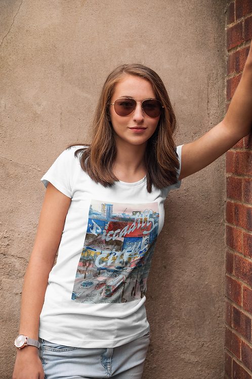 Piccadilly Circus - Women's Organic Fitted T-shirt