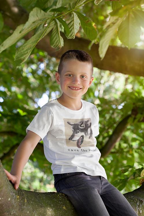 Save the wolf - Kids Heavy Cotton™ Tee