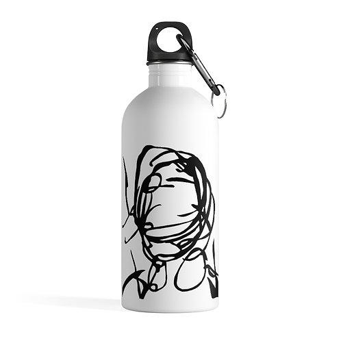Beats! - White Stainless Steel Water Bottle