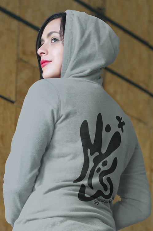 Signs of the earth - Oracle Girl - Unisex eco pullover hoodie