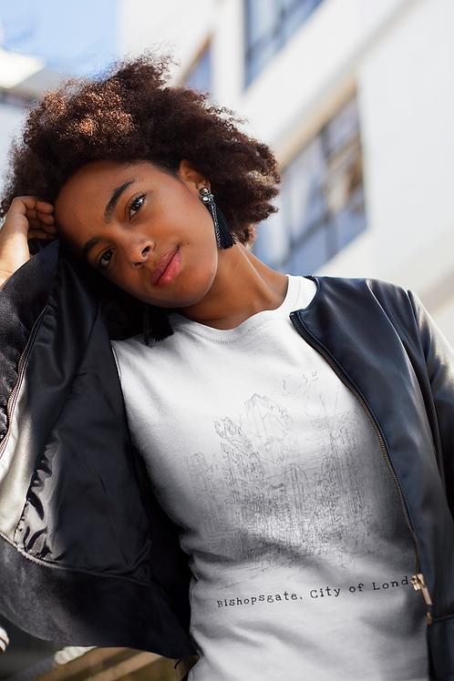 Bishopsgate, City of London - Women's Organic Fitted T-shirt