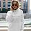 Thumbnail: The future is positive - OG - Unisex Organic Cruiser Hoodie White