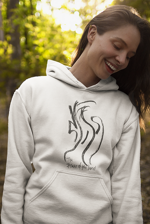 The power of the land - Oracle Girl - Unisex essential eco hoodie