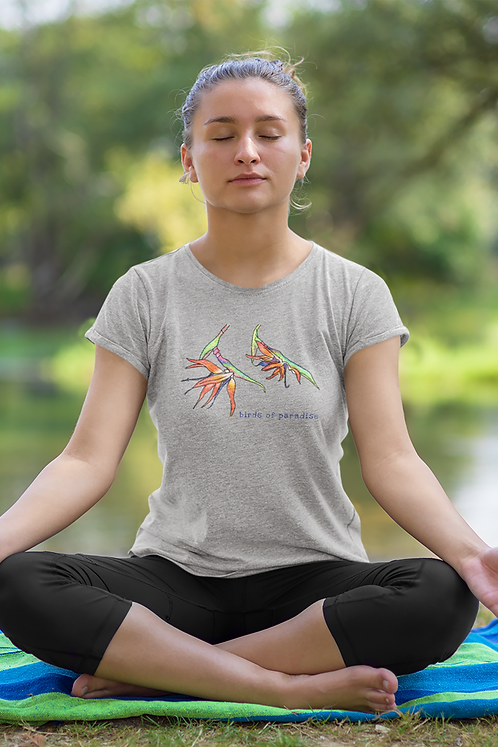 Birds of paradise - Women's fitted organic cotton tee