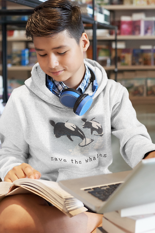 Save the whales - Kids Hoodie