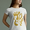 Thumbnail: Gold and togetherness - Oracle Girl - Unisex Organic Cotton Slim Fit T-Shirt