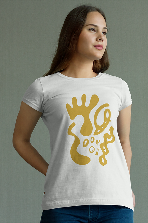 Gold and togetherness - Oracle Girl - Unisex Organic Cotton Slim Fit T-Shirt