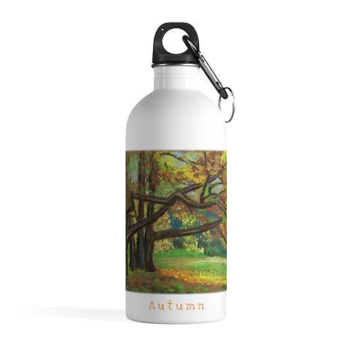 Autumn - White Stainless Steel Water Bottle