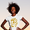 Thumbnail: Gold and togetherness SE - Oracle Girl - Women's fitted organic cotton tee