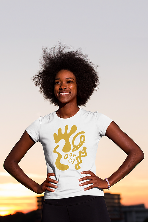 Gold and togetherness SE - Oracle Girl - Women's fitted organic cotton tee