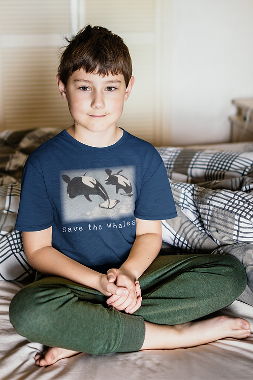 Save the whales - Kids Softstyle Tee