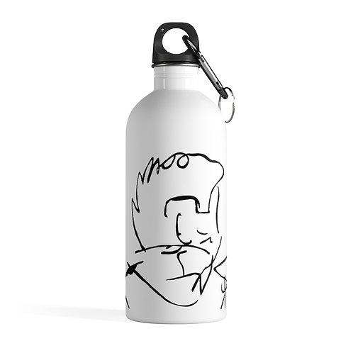 Boy profile - White Stainless Steel Water Bottle