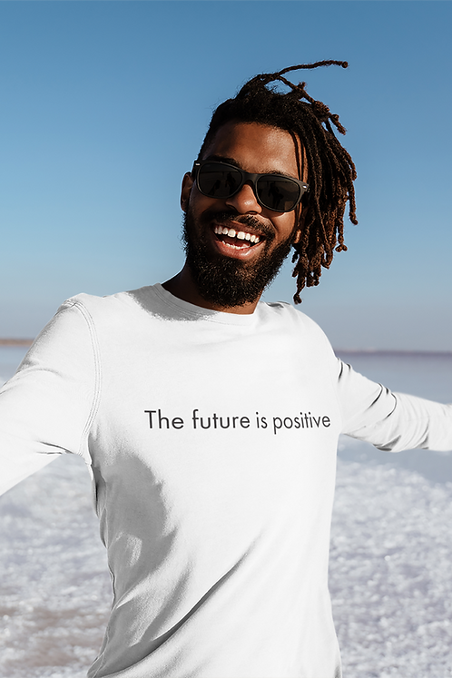 The future in positive - Oracle Girl - Unisex Ethical Long Sleeve Tee
