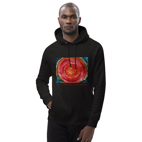 This is the time of the red sun - Unisex eco pullover hoodie