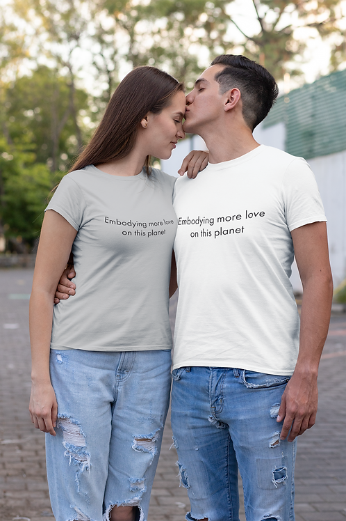 Embodying more love - Oracle Girl - Unisex Organic Slim Fit Cotton T-Shirt