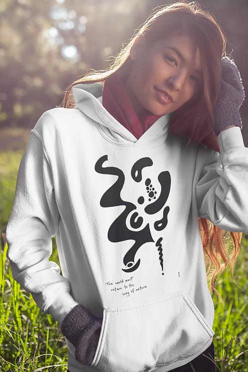 The world must return - Oracle Girl - Unisex essential eco hoodie