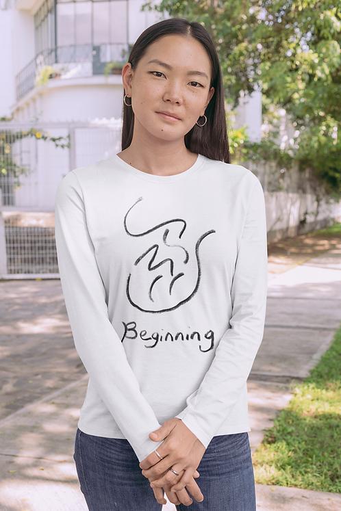 Beginning - Oracle Girl - Unisex Ethical Long Sleeve Tee