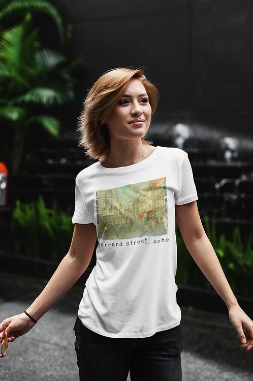 Gerrard Street, Soho - Women's Organic Fitted T-shirt