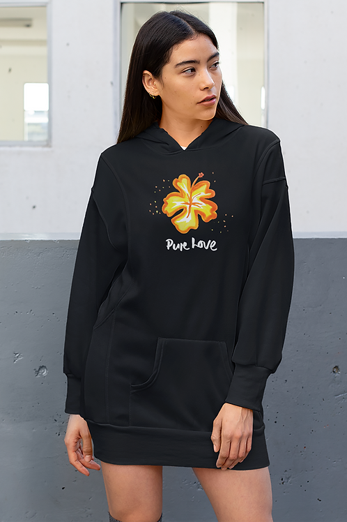 Pure love - Eco hoodie dress