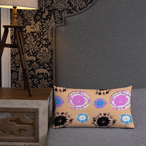 Lollipop Allium flowers - orange - Ethical Premium Scatter Pillow