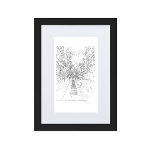 New York City - Matte Paper Framed Poster with mount