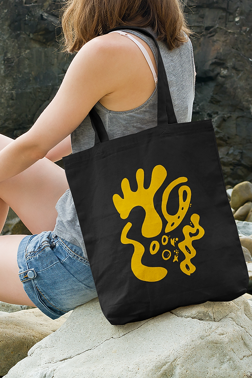 Gold and togetherness - Oracle Girl - Organic cotton Tote Bag