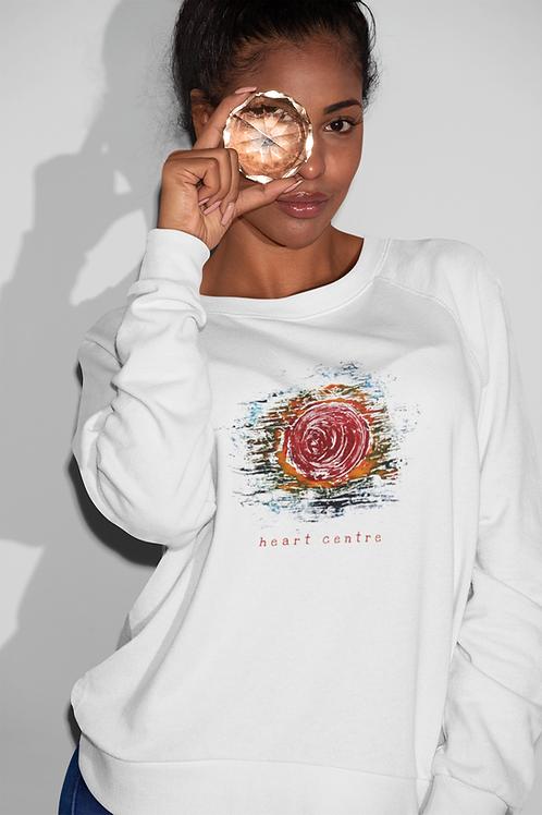 Heart Centre - Women's Organic Rise Sweatshirt
