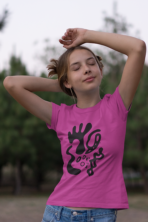 Gold and togetherness - Oracle Girl - Youth Ethical Short Sleeve T-Shirt
