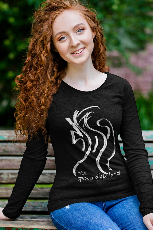 The power of the land - Oracle Girl - Unisex Ethical Long Sleeve Tee