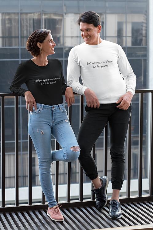 Embodying more love - Oracle Girl - Unisex Ethical Long Sleeve Tee