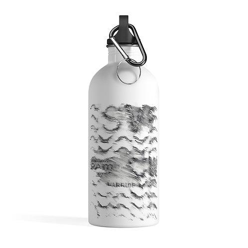 Warrior - White Stainless Steel Water Bottle