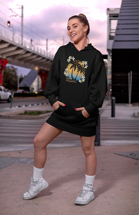 Higher frequency - Eco hoodie dress