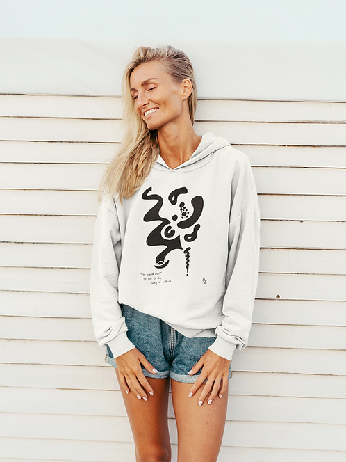 The world must return - Oracle Girl - Unisex eco pullover hoodie