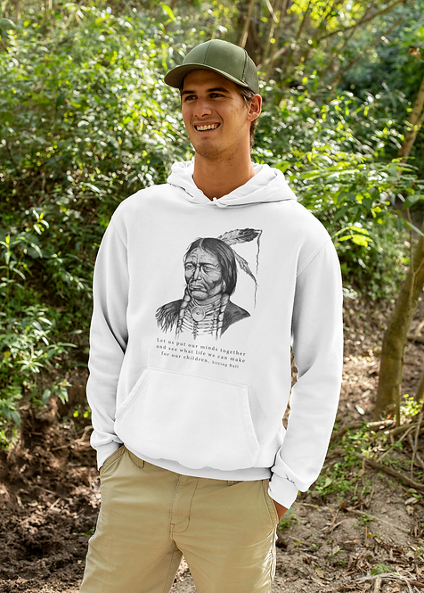 Sitting Bull - Ethical unisex hoodie