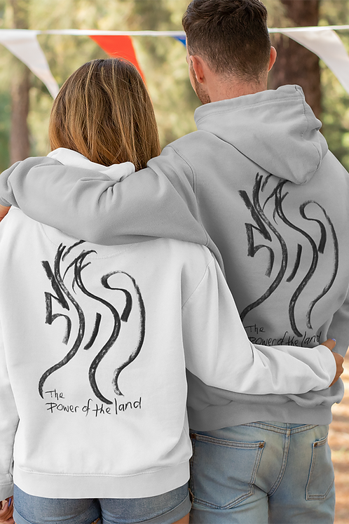 The power of the land - Oracle Girl - Unisex eco pullover hoodie