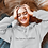 Thumbnail: The future is positive - Oracle Girl - Unisex eco pullover hoodie