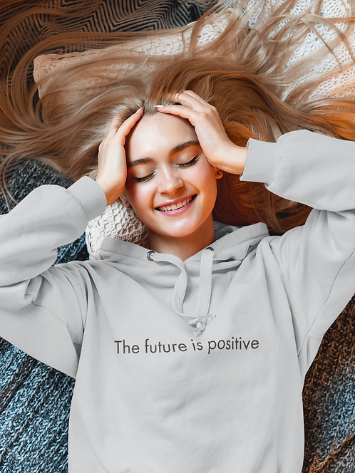 The future is positive - Oracle Girl - Unisex eco pullover hoodie