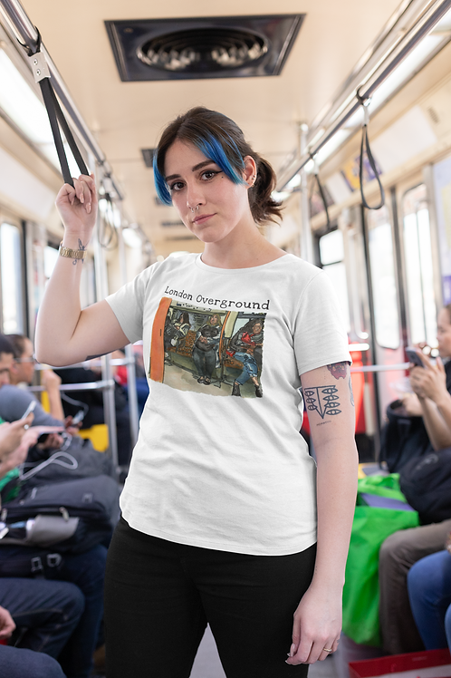London Overground - Women's Organic Fitted T-shirt