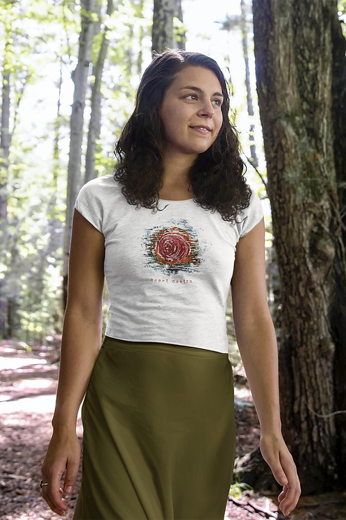 Heart Centre - Women's Organic Fitted T-shirt