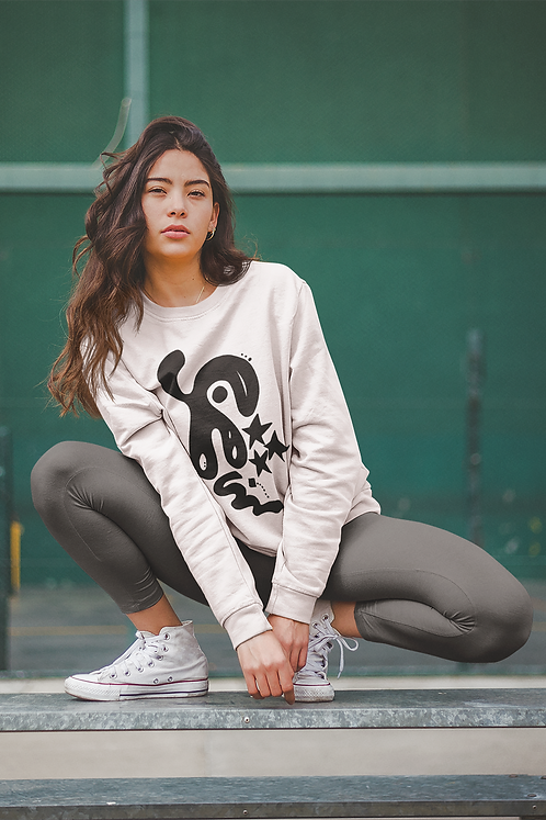 Earth changes are coming - Oracle Girl - Unisex eco sweatshirt