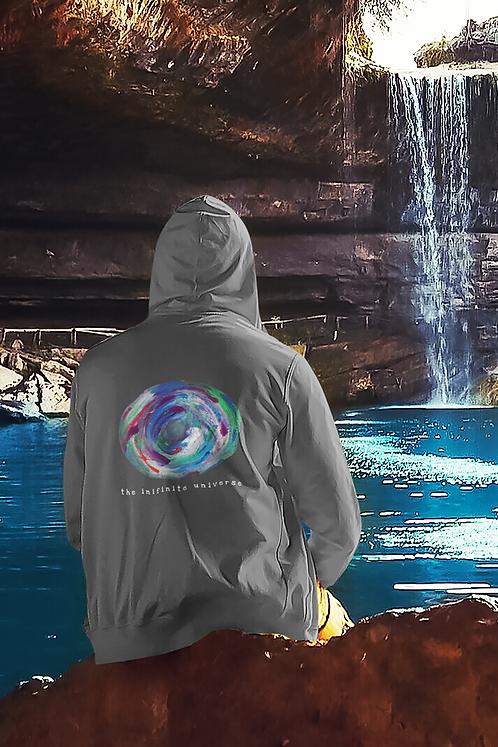 Infinite universe - Ethical unisex lightweight full zip hoodie