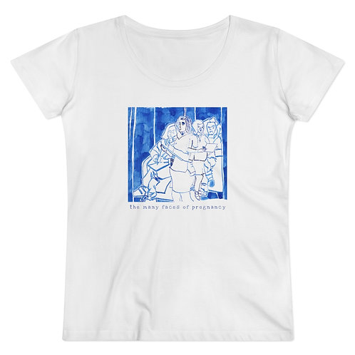 The many faces of pregnancy - Women's Organic Fitted T-shirt