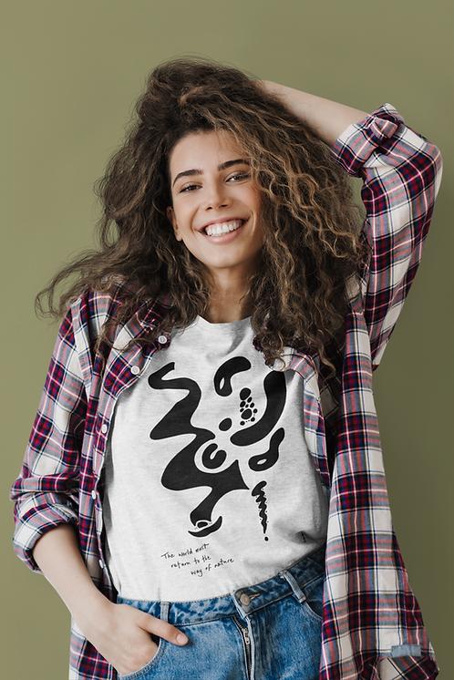 The world must return - Oracle Girl - Unisex organic cotton t-shirt