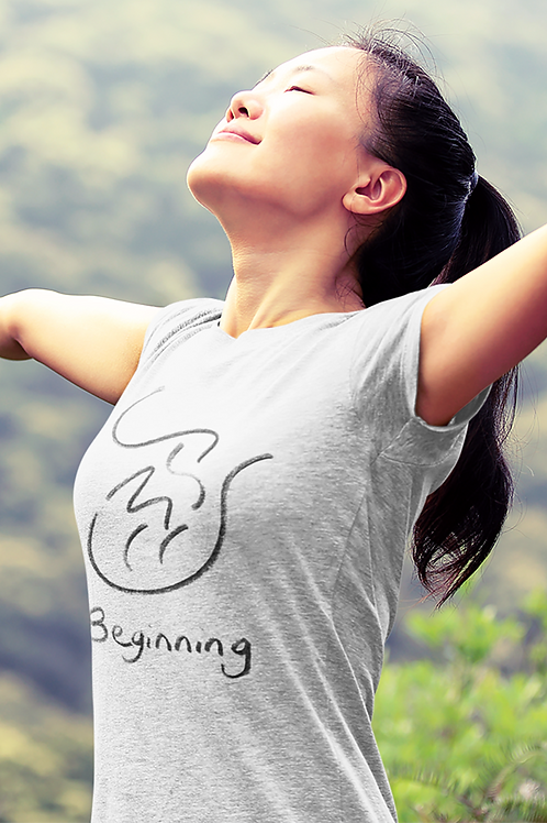 Beginning - Oracle Girl - Women's Organic Fitted T-shirt