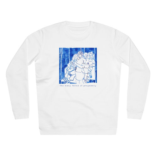 The many faces of pregnancy - Women's Organic Rise Sweatshirt
