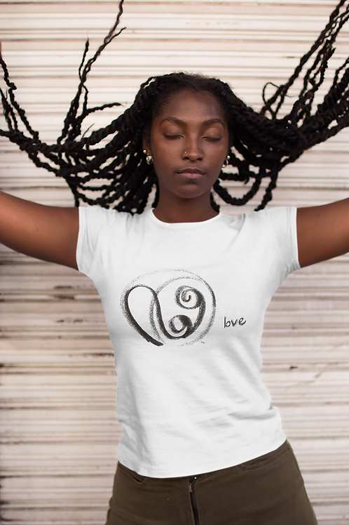 Love - Oracle Girl - Women's Organic Fitted T-shirt